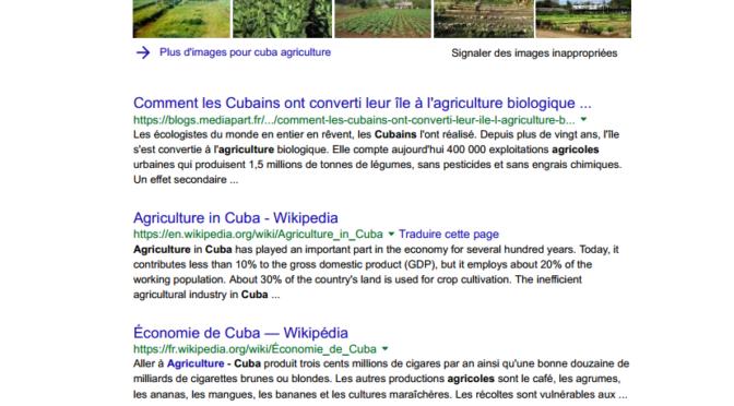 A la recherche de l'agroécologie cubaine